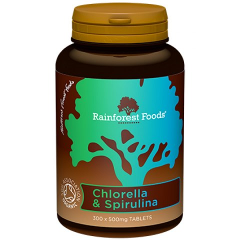 Chlorella & Spirulina BIO (300 tabletek x 500 mg)