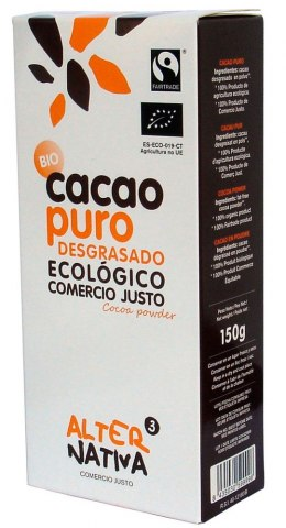 KAKAO W PROSZKU FAIR TRADE BEZGLUTENOWE BIO 150 g - ALTERNATIVA
